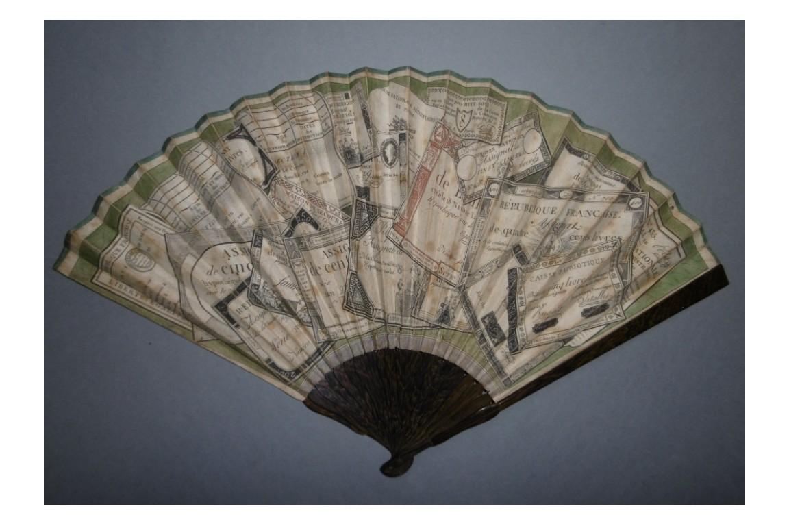 Assignats, revolutionnary fan, circa 1792