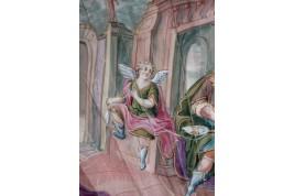 Hercule et Omphale, éventail vers 1730