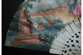 Hercules and Omphale, fan circa 1730