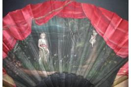 Ballet pour Ophélie, éventail vers 1880-90