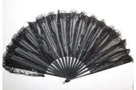 Éventail chiffon, fin XIXème siècle