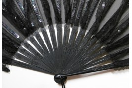 Chiffon fan, late 19th century
