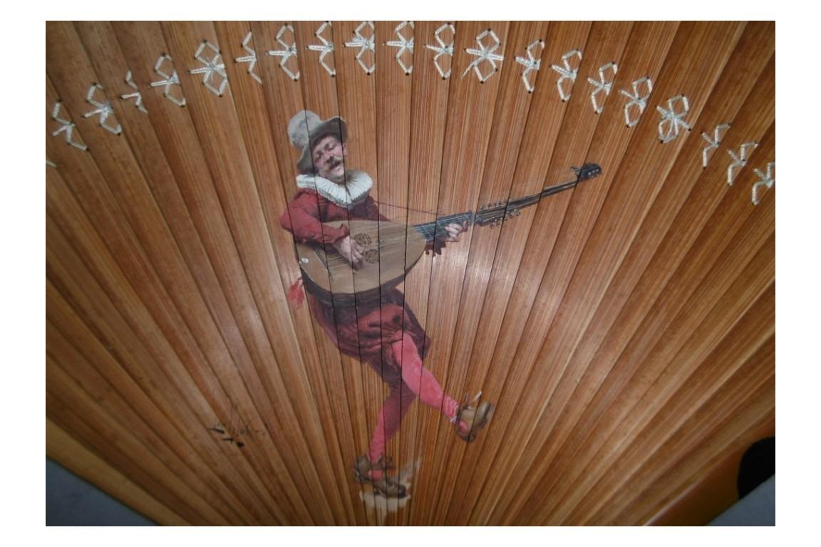 The musician, fan by Louis Lelon, 1879