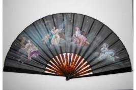 Nymphs of the four seasons, fan circa 1880-1890