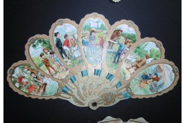 The children of the Bon Marché, advertising fan, early 20th