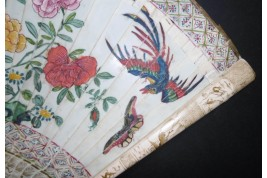 Phoenix and butterflies, Chinese fan, Kangxi period, ca. 1670-80