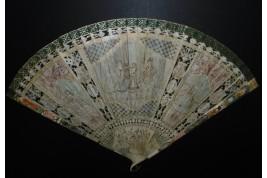 Love at the sound of the tambourine, fan circa 1690