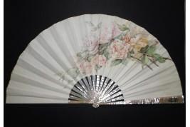Roses, éventail vers 1880-1890