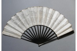 The cursed lovers, Heloise and Abeilard, fan circa 1785