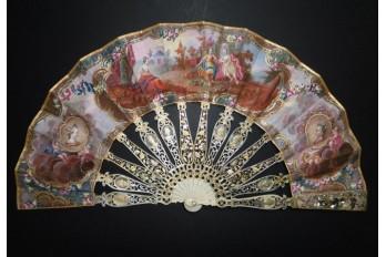 L'amour victorieux, éventail vers 1775-80