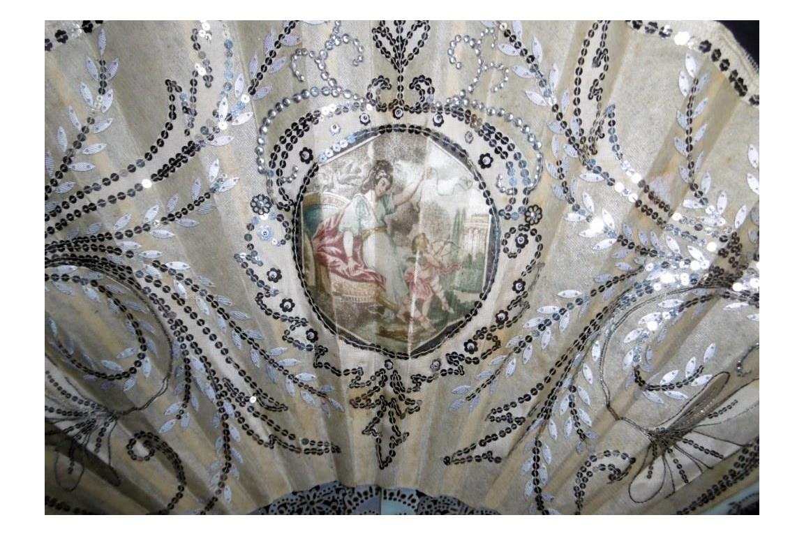 Viser l'amour, éventail Duvelleroy, période Art Nouveau