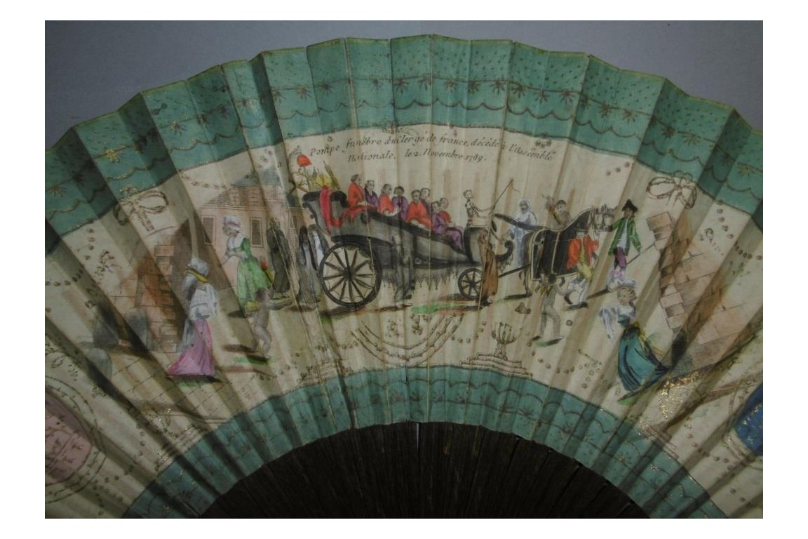 Death of the Clergy, giant revolutionary fan, 1789