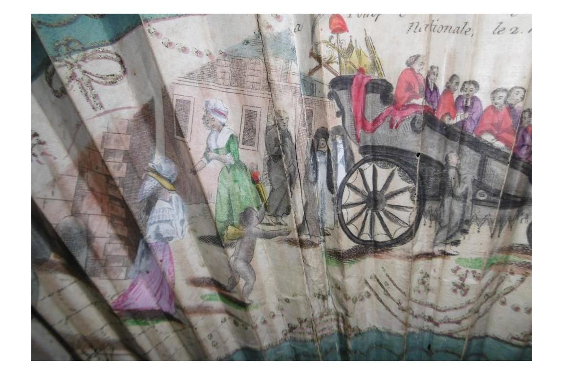 La mort du Clergé, éventail géant révolutionnaire 1789