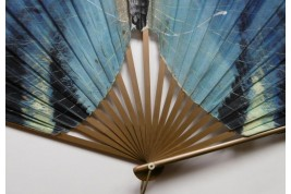 Blue butterfly, early 20th century fan
