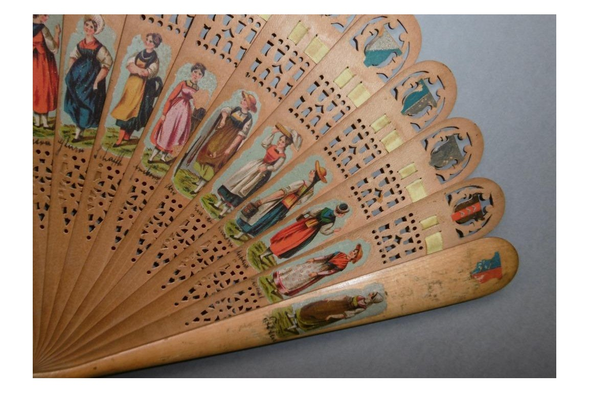 Swiss cantons, fan circa 1860