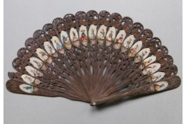 Swiss Costume Folklores, fan circa 1860-1900