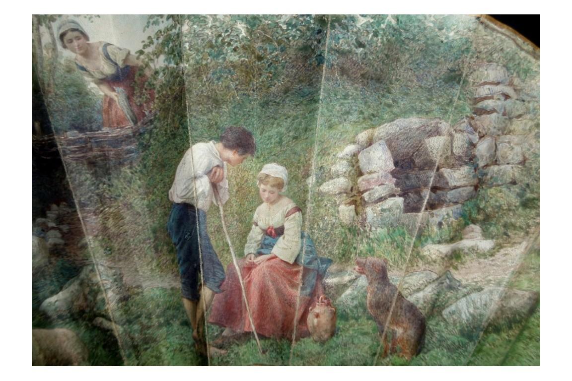 La mère vigilante, éventail de Rudaux 1869