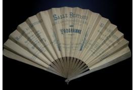 Theater programme fan, 1890