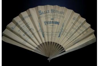 Éventail programme de théâtre, 3 Mai 1890