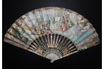 The toilet of Venus, fan circa 1740-50