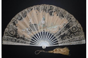 The well of love, fan circa 1885-90