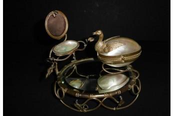 Precious bird, ring and watch holder, Napoleon III period