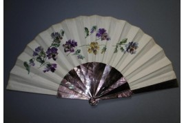 The pansies by Georges Cain, fan dated 1881