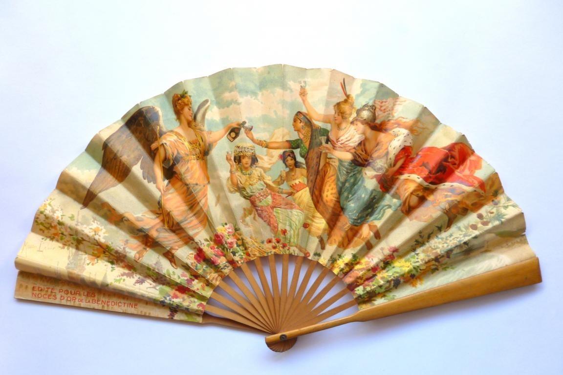 Noces d'or Bénédictine, éventail d'après Maurice Leloir