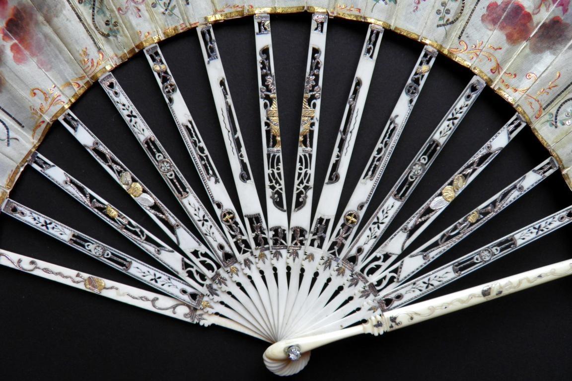 Wedding fan, circa 1770