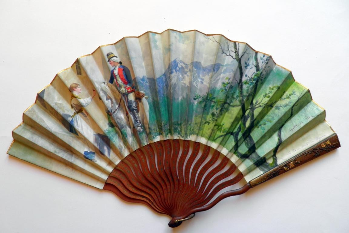 Le pic du Midi de Bigorre, late 19th century fan