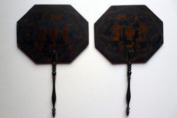 Antique Greek and Egypt, fixed fans 19th century