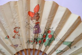 Bunch of flowers, fan circa 1950