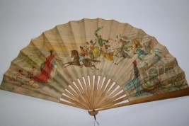 Souvenir fan, Universal exhibition, Paris 1889